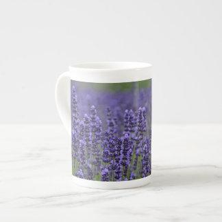 Taza De Té Flores púrpuras de la lavanda