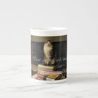 Taza De Té Gato de la biblioteca