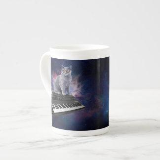 Taza De Té gato del teclado - música del gato - espacie el