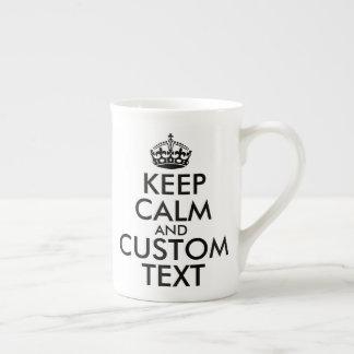 Taza De Té Guarde la calma y cree sus los propios hacen para