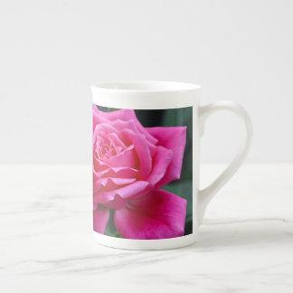 Taza De Té Impresión floral rosada de dos rosas
