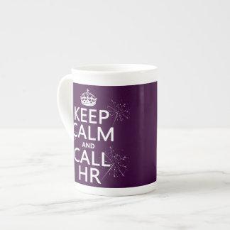 Taza De Té Mantenga tranquilo y la llamada hora (cualquier