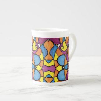 Taza De Té Modelo abstracto colorido vibrante