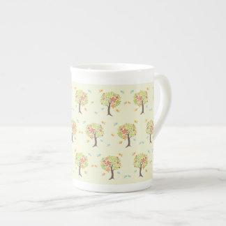 Taza De Té Modelo de árboles y de pájaros