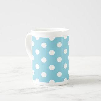 Taza De Té Modelo de lunar azul y blanco