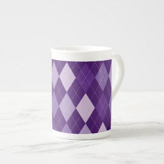 Taza De Té Modelo púrpura del argyle