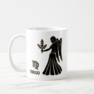 Taza de té moderna de la taza del oro del negro