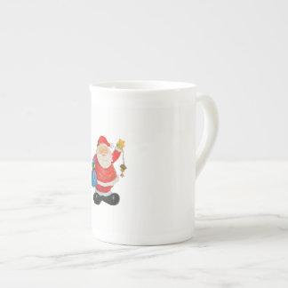 Taza De Té Navidad lindo Kris Kringle del padre de Papá Noel