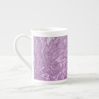 Taza De Té Ornamento rosado polvoriento