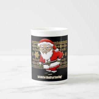 Taza De Té Oro de Santa que imita/taza negra del fondo