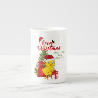 Taza De Té Pequeño navidad del pollo del bebé