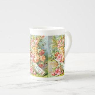 Taza De Té Perfume del agua de la Florida con los rosas de la
