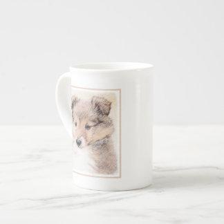 Taza De Té Perrito del perro pastor de Shetland