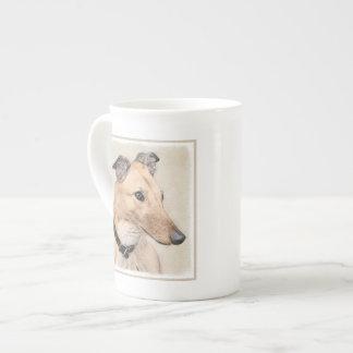 Taza De Té Pintura del galgo - arte original lindo del perro