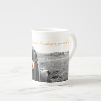Taza De Té Porcelana de hueso Mugi de las bendiciones de la