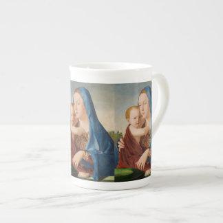 Taza De Té Retrato de Maria que detiene al bebé Jesús