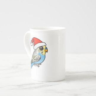 Taza De Té Santa azul y amarillo Budgie