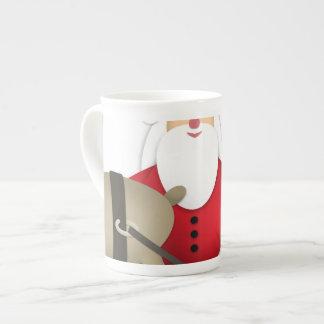 Taza De Té Santa y su reno con los regalos
