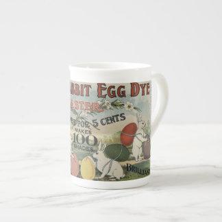 Taza De Té Tinte blanco del huevo del conejo