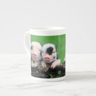 Taza De Té Tres pequeños cerdos - cerdo lindo - tres cerdos