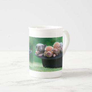 Taza De Té Tres pequeños cerdos - tres cerdos - gorra del