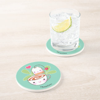 Taza de té y práctico de costa lindos de la posavasos manualidades