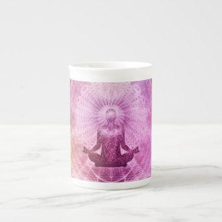 Taza De Té Zen espiritual de la meditación de la yoga