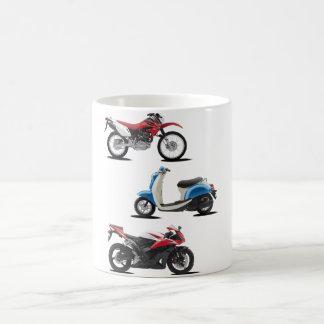 Taza de tres motocicletas taza básica blanca