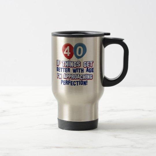 Taza De Viaje 40.os diseños del cumpleaños