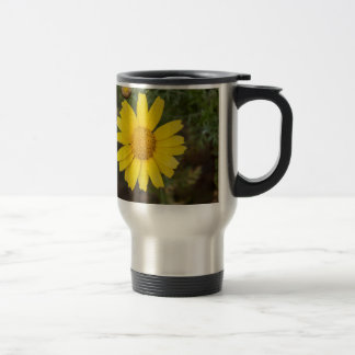 Taza De Viaje Amarillo del Cu de la flor de la margarita