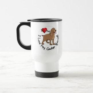 Taza De Viaje Amo mi perro de cocker spaniel