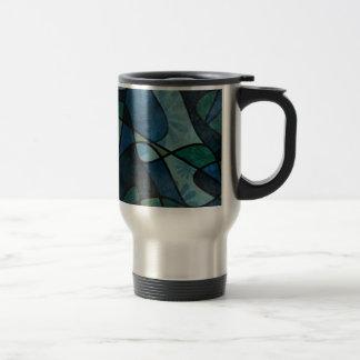 Taza De Viaje Arte abstracto del vitral de Digitaces del trullo