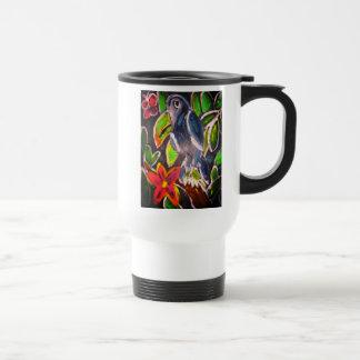 Taza De Viaje Arte de Toucan de la selva tropical