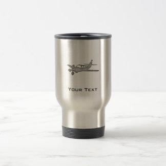 Taza De Viaje Avión cepillado de la Metal-mirada