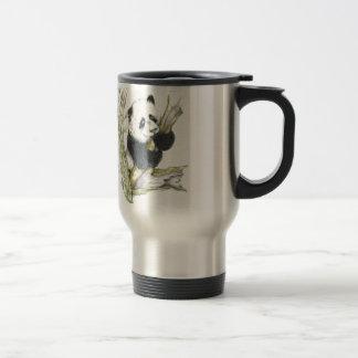 Taza De Viaje Bambú lindo del dibujo de lápiz del oso de panda