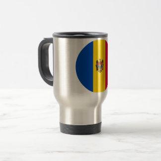 Taza De Viaje Bandera del Moldavia