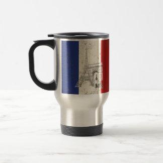 Taza De Viaje Bandera y símbolos de Francia ID156