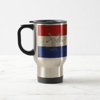 Taza De Viaje Bandera y símbolos de los Países Bajos ID151