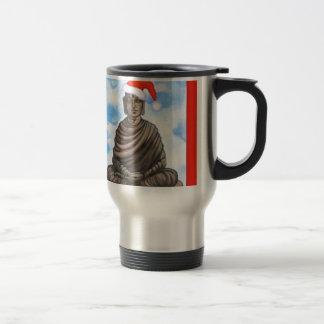 Taza De Viaje Buddhism - Buda - gorra de las Felices Navidad