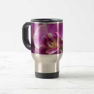 Taza De Viaje Cadena de flor de color rosa oscuro de la orquídea