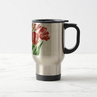 Taza De Viaje Caligrafía roja de los tulipanes