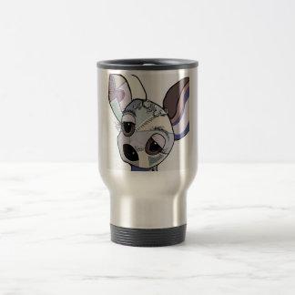 Taza De Viaje Chihuahua en colores del dril de algodón