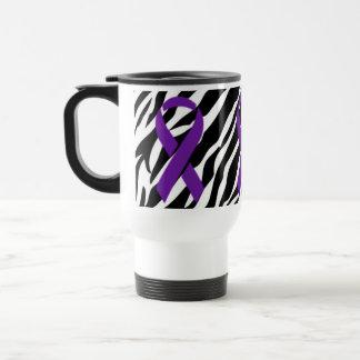 Taza De Viaje Cinta de la cebra w/Purple