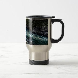 Taza De Viaje corriente de aguas esmeralda