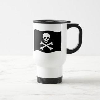 Taza De Viaje Cráneo y bandera pirata