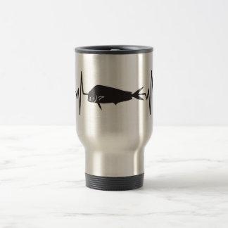 Taza De Viaje Delfín/pescados de Mahi Mahi - pulso del latido