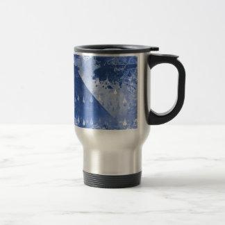 Taza De Viaje Diseño azul abstracto de las gotas de lluvia