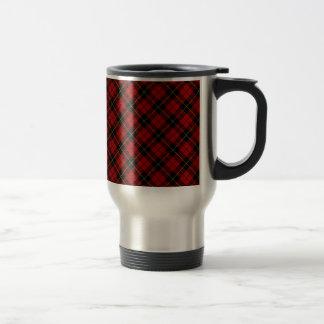 Taza De Viaje Diseño escocés del tartán del clan de Wallace