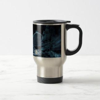 Taza De Viaje Eclipse oscuro de la nave de la fantasía abstracta