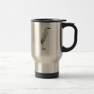 Taza De Viaje Egret blanco